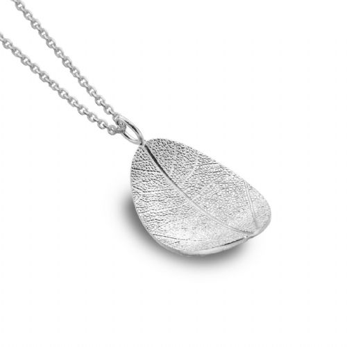 Curved Leaf Pendant Sterling Silver 925 Hallmarked All Chain Lengths